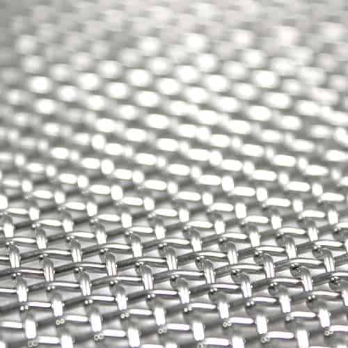 Shiny stainless steel wire mesh